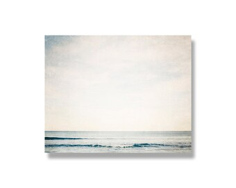 Ocean photo canvas, ready to hang, canvas gallery wrap, blue, gentle waves, ocean wall art, beach decor, winter blues, serene ocean - Curl