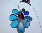 Bue Angel - Stunning Stained Glass Crystal Suncatcher in Blue and Purple