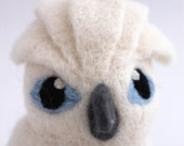 Cockatoo Needle felted Bird White Umbrella Cockatoo Felt Pet Bird