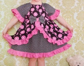 Sewing Pattern with Tutorial for the Enchanted Dress with half and 7/8 sleeves 9m-12 girls Instant