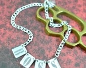 LIKE A BOSS - Laser Cut Acrylic Necklace - Gold Or Silver - You Choose The Color