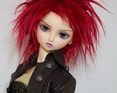BJD Wig Red faux fur doll wig SIZE CHOICE