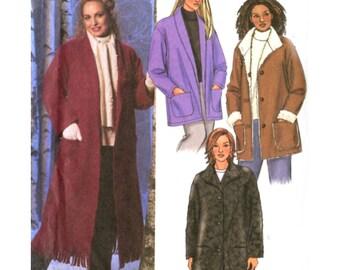 Womens Easy Coat / Jacket Sewing Pattern - Butterick 4040 - Two Lengths - Plus Size 16W-18W-20W Uncut