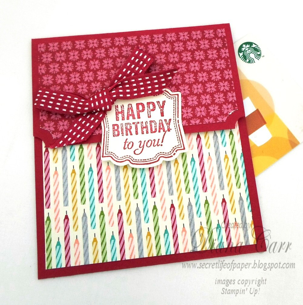 Birthday Gift Card Holder / Birthday Money Card / Birthday