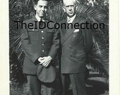 Vintage Black & White Photograph, 1950's Military Men, Father and Son, Send off, Congratulations