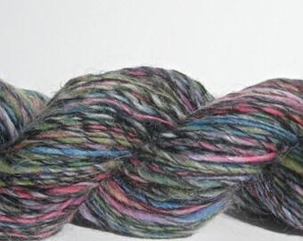 Handspun Yarn - Light Worsted Weight Wool / Mohair Singles - 195 yards