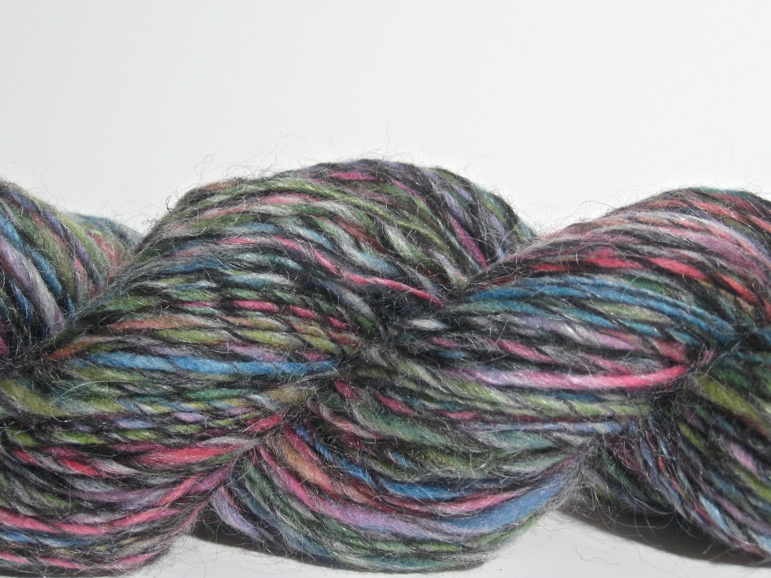 Worsted Weight Yarn : Handspun Yarn Light Worsted Weight Wool / by spinynormanknits