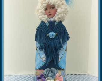 Lidia Handmade Mixed Media Victorian Collage Art Doll