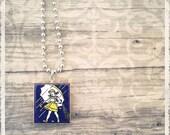 Scrabble Tile Necklace - Morton Salt Girl - Scrabble Pendant Jewelry Charm - Customize - You Choose Your Style
