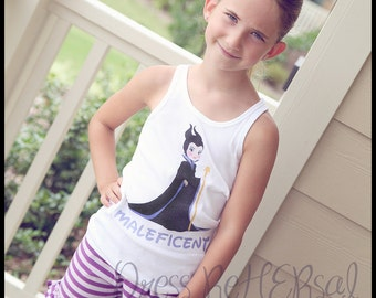 Maleficent  t shirt or tank top with optional personalization