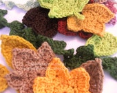 SALE leaf Crochet PATTERNs - 2 Fast and EASY Fall Maple Leaf Crochet Applique Patterns - Autumn Leaves Instant Download