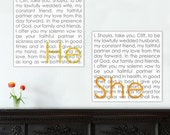 She He Word Art wedding phrases Reception art describing  your love Word Art Custom Canvas -THIS listing is for TWO - 18x18