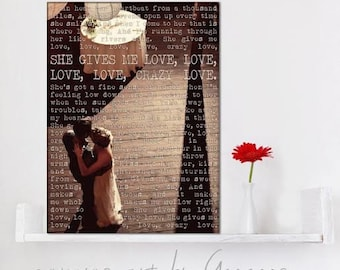 Cotton Anniversary Personalized First Dance Personalized Photo Gifts - Use Your Photo and Reading or Poem, Your words on Canvas 12x16 inches