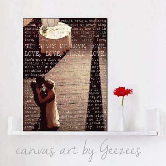 Personalized First Dance Personalized Photo Gifts Canvas Use Your Photo and Reading or Poem, Your words on Canvas 12x16 inches