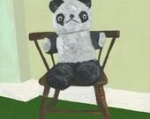 Teddy.  Original oil painting by Vivienne Strauss.