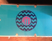 Personalized Chevron Circle Camp Trunk Monogram Decal - Chevron Monogram - Camp Trunk Decal - Personalized Monogram