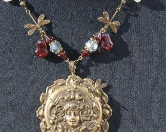 Art Nouveau Goddess Necklaxe
