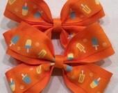 Girl Orange Hair Bow
