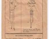 Antique Sewing Pattern 1920's Ladies Flapper Dress Vintage Butterick 2677 - Free Pattern Grading E-book Included