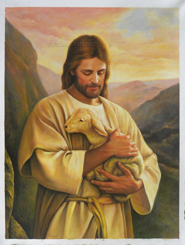 Jesus Black Sheep Painting