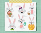 Easter Bunny Clip Art Digital Clip Art Images Holiday Clip Art -  Personal & Commercial Use INSTANT DOWNLOAD