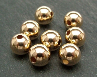 Gold Filled Plain Bead 8mm (CG6140)