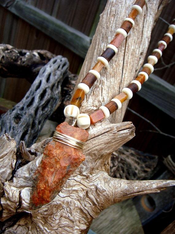 Authentic Arrowhead Pendant On Necklace Unisex Tribal Earthy