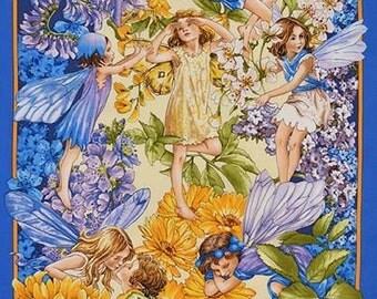 Flower Fairy Dawn till Dusk Cicely Mary Barker Fabric Panel