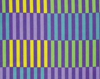 Jane Sassaman Color Bars Citrus Gregorys Garden Fabric 1 yard