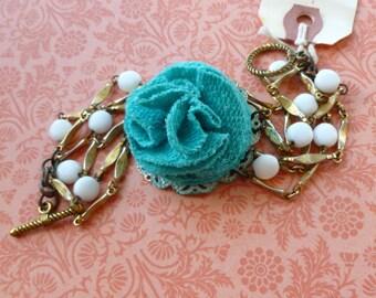 Bracelet GOODBYE GRAY SKIES Vintage RePurposed Jewelry