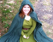 Custom Color Cotton Twill 3/4 Circle Cloak SCA, LARP, Pagan, Renaissance