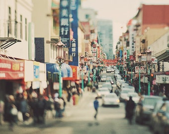 Chinatown San Francisco photography, city street, urban decor, loft, dreamy, chinese, asian, California travel, photo, Myan Soffia, lanterns