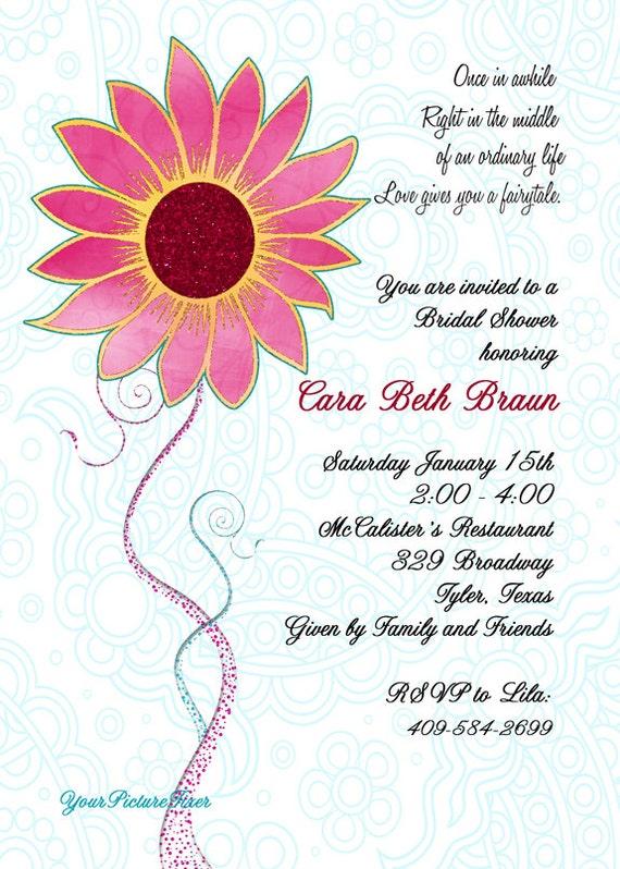 Simply Elegant Floral Bridal Shower Invitations