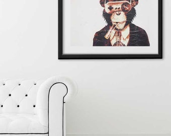 "SALE! Paris Print, ""Monkey"" Extra Large Wall Art, Paris Photography Art Print, Oversized Art, Fine Art Photography Paris Decor"