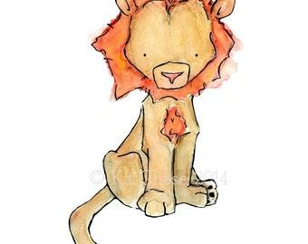 Children's Art -- Royal Lion -- Art Print