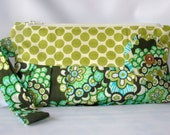 Wristlet Clutch Bag, Wristlet Zipper Purse, Zipper Pouch, everyday purse, Handbag Dandelion Field Forest  Ready to ship