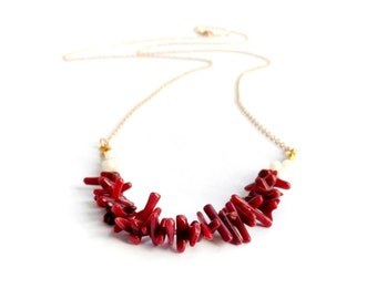 Riverina Necklace - Crimson Coral