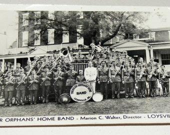 Antique RPPC Photograph Tressler Orphans Home Band Orphange Loysville PA