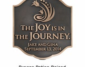 """Joy Personal Wedding Plaque, Custom Messages, Anniversary, Marriage, 11.25"""" W x 12.75"""" H Made in USA"""