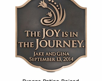 "Joy Personal Wedding Plaque, Custom Messages, Anniversary, Marriage, 11.25"" W x 12.75"" H Made in USA"