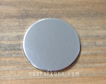 1 1/8 inch 14g Pewter Disc Stamping Blank 3 pack
