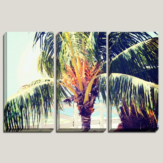 palm tree large wall canvas art decorations canvas by joellejoy. Black Bedroom Furniture Sets. Home Design Ideas