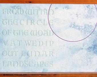 Woad Dyed Letterpress Postcard