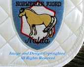 Norwegian Fjordhorse Applique Sew On Clothing Saddle Pads Custom Embroidery Embellishment Appliques