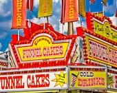 Funnel Cakes Carnival Vendor Fine Art Print- Carnival Art, County Fair, Nursery Decor, HomeDecor, Children, Baby, Kids