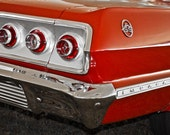 1963 Chevrolet Impala SS Car Photography, Automotive, Auto Dealer, Muscle, Sports Car, Mechanic, Boys Room, Garage, Dealership Art