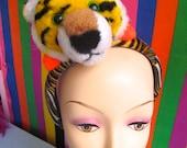 SALE: TIGER HEADBAND Harajuku / millinery / cat / fascinator / headpiece / hat