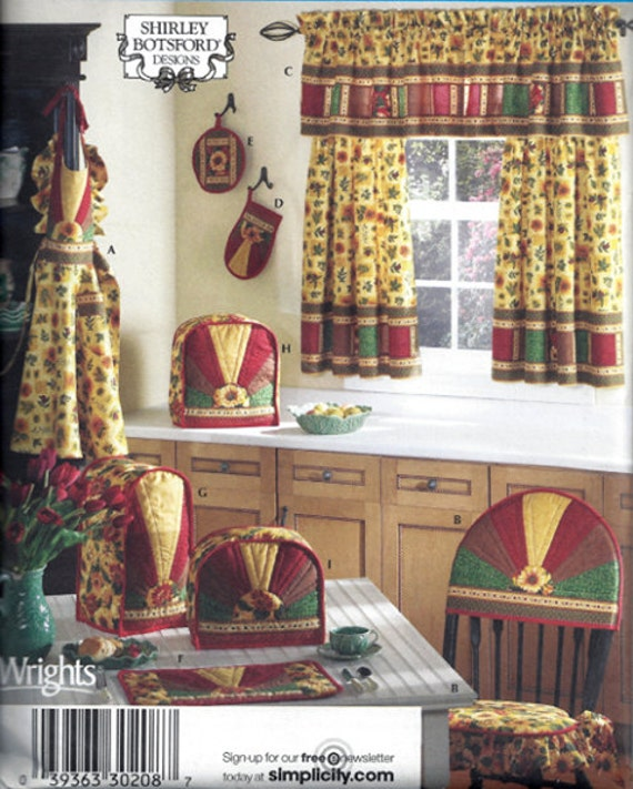 Kitchen Appliance Covers Sewing Pattern Oven Mitt Pot Holder