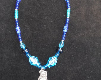 Mermaid Necklace with Ocean Colors