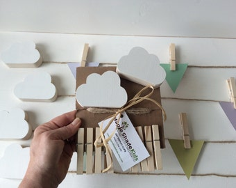 Cloud Art Display Cable, Natural Clips, eco friendly